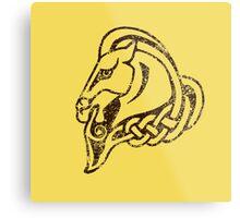 Skyrim Distressed Whiterun Logo Metal Print