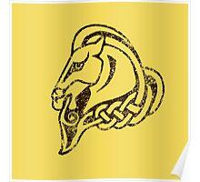Skyrim Distressed Whiterun Logo Poster