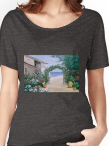 SEASIDE TRELLIS Women's Relaxed Fit T-Shirt