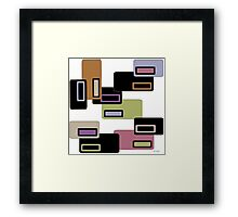 Retro Rectangles Original Framed Print