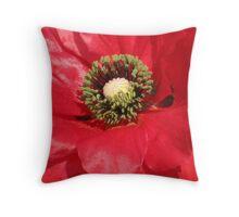 Red corn poppy Throw Pillow