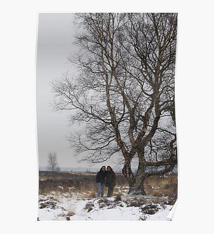 Ien & Johanna by the Fairy tree at Fochteloerveen Poster