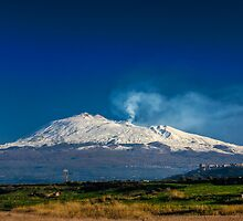 Mt. Etna from Ponte Barca by Andrea Rapisarda