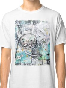 birds and flowers Classic T-Shirt