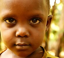 Curious Eyes - Uganda, Eastern Africa by Karl Lindsay