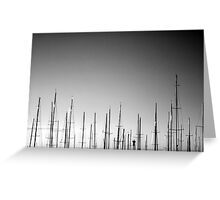 Forest of Masts Greeting Card