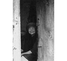 Old women in China black white photo Photographic Print