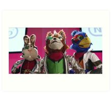 Star Fox Muppets Art Print
