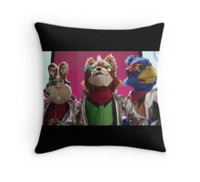 Star Fox Muppets Throw Pillow