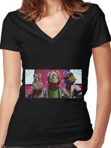 Star Fox Muppets Women's Fitted V-Neck T-Shirt