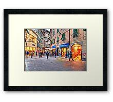 Shopping Framed Print