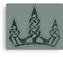 Skyrim Distressed Winterhold Logo Canvas Print