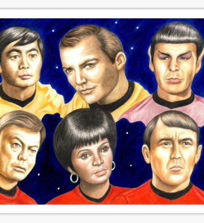 To boldly go......Star Trek.....the originals Sticker