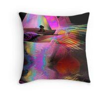 Sailing on sunbeams Throw Pillow