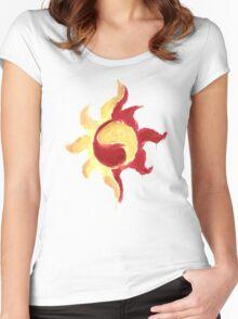 Sunset Shimmer Paintsplatter Women's Fitted Scoop T-Shirt