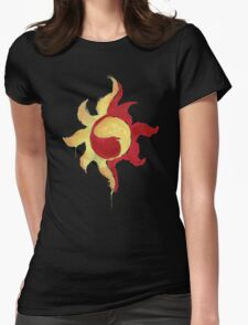 Sunset Shimmer Paintsplatter Womens Fitted T-Shirt