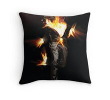 burn - combustion of the fire elements Throw Pillow