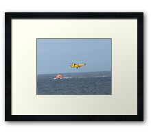 Winched to safety Framed Print