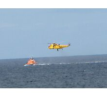 Winched to safety Photographic Print