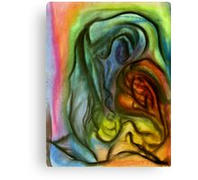 Demeter in Winter, pastel painting on paper Canvas Print