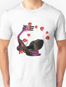 Shoe Lover T Shirt With Sexy Shoes And Hearts T-Shirt