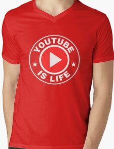 Youtube is Life Mens V-Neck T-Shirt