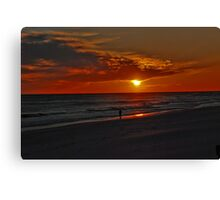 Sunset over the Gulf of Mexico Canvas Print