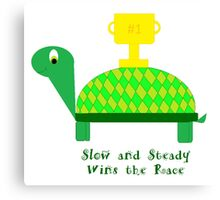 Slow and Steady Wins the Race-Turtle Canvas Print