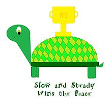 Slow and Steady Wins the Race-Turtle Photographic Print