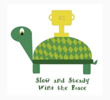 Slow and Steady Wins the Race-Turtle Kids Tee