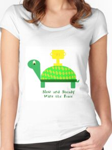 Slow and Steady Wins the Race-Turtle Women's Fitted Scoop T-Shirt