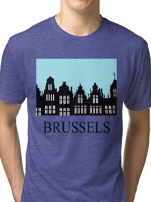 Brussels Grand Place / Grote Markt Tri-blend T-Shirt