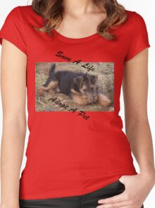 Save A Life - Adopt A Pet II Women's Fitted Scoop T-Shirt