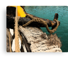 Tall Ship Anchor Canvas Print