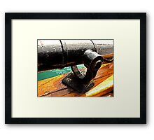 Antique Tall Ship Cannon Framed Print