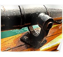 Antique Tall Ship Cannon Poster
