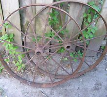 Rusty Wheels by Patty Vogler