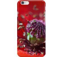 Heart of a Poppy macro iPhone Case/Skin