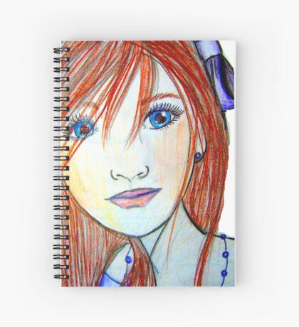 Blue eyed girl Spiral Notebook