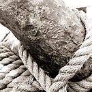 Antique Tall Ship Anchor And Rope by sunrisern