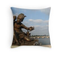 Young Girl with Shell Throw Pillow