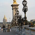 On Pont Alexander III Bridge by Sherry Freeman