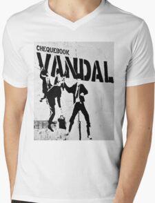 Chequebook Vandal  Mens V-Neck T-Shirt