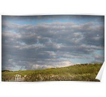 Beach Clouds Poster