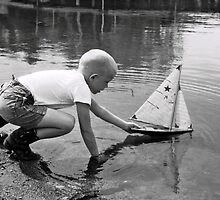 Eric & His Boat by Randy Sprout