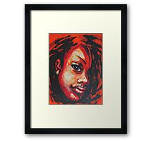Afro - Portrait Of A Woman Framed Print