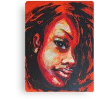 Afro - Portrait Of A Woman Canvas Print