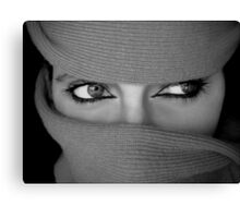 The eyes are more exact witnesses than the ears. Canvas Print