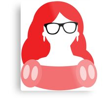 Disney Princesses Geeky Glasses Ariel Metal Print