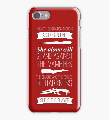 Buffy the Vampire Slayer - Chosen One iPhone Case/Skin